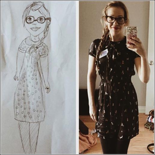 arts express student drawing Crystal Koskinen